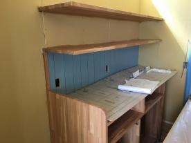 キッチン棚造作工事