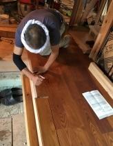 床フローリング施工