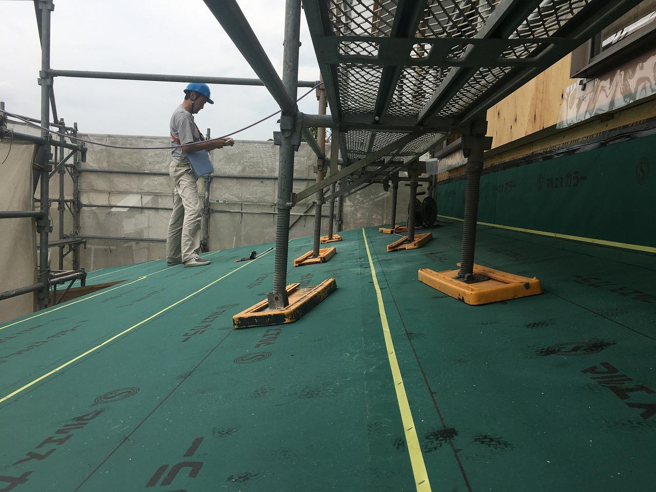 屋根ルーフィング施工後監査