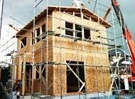 建て方(屋根組)