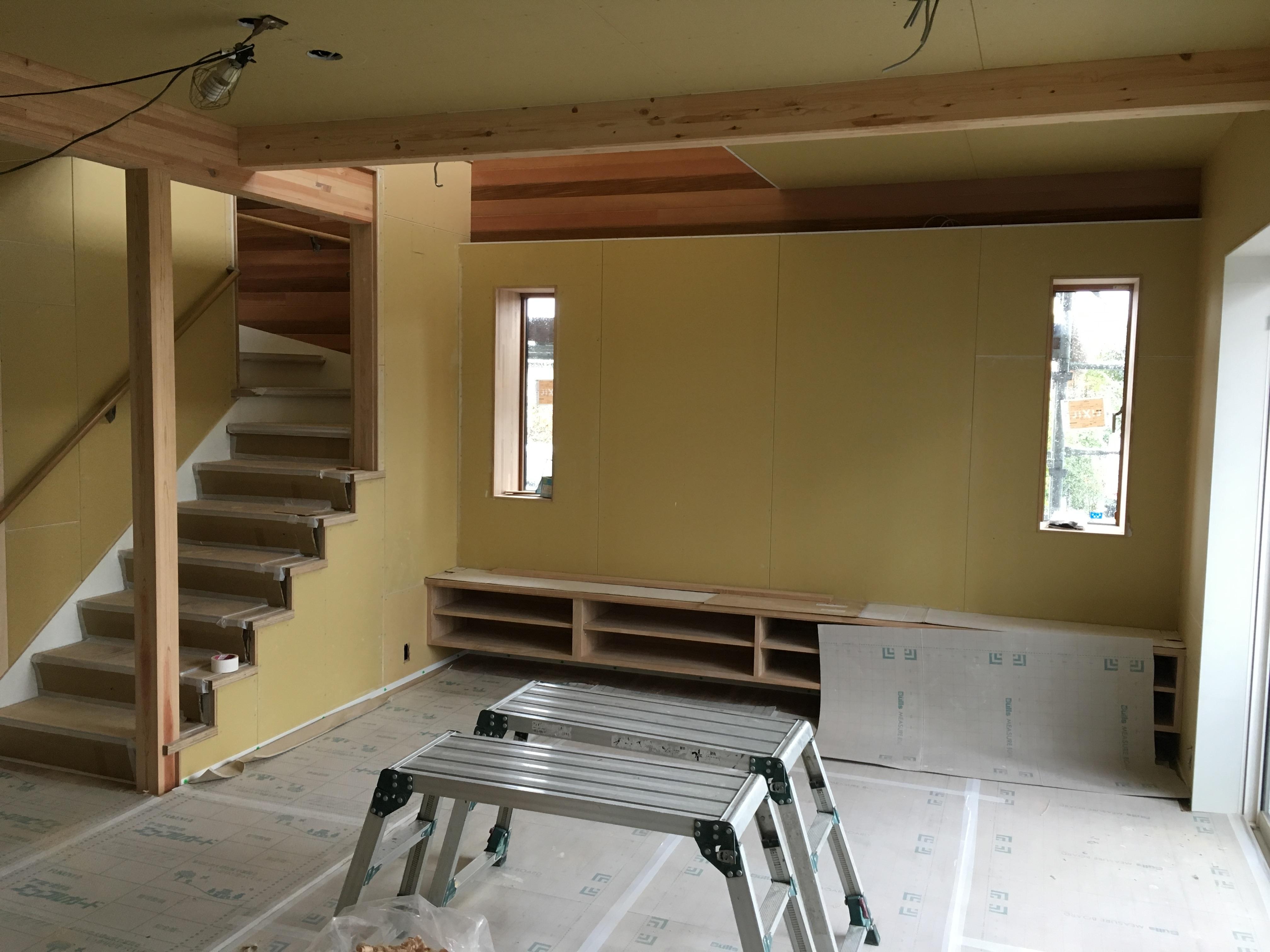 天井・壁ボード張り