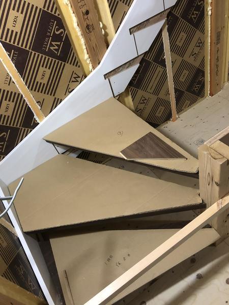 階段床張り