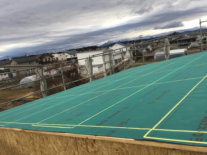 屋根ルーフィング施工完了