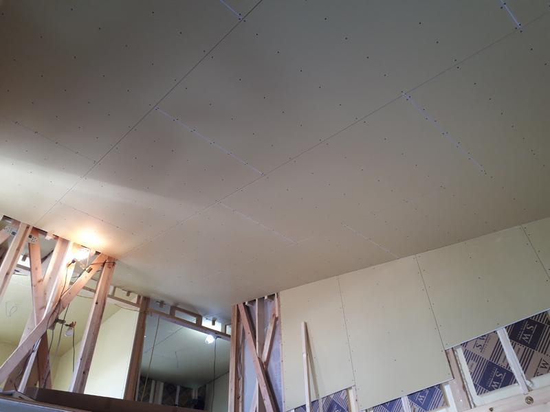 天井ボード張り工事